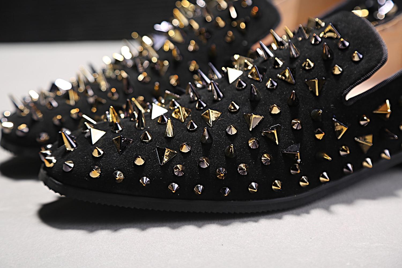 Moda Lazer Show Do Parafuso Calcanhar Da Pé Prisioneiro Casuais Pontas Dos Dedo Loafers Genuíno Sapatos Calçados De Robusto Superior Em Deslizamento Couro Clássicos As Homens Rebite Masculinos q8YwtxF