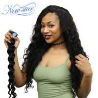 New Star Hair Brazilian Loose Deep Virgin Hair Bundles 10 30 Inches Natural Color 100 Unprocessed