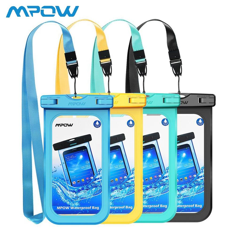 24ac74b3f80 3/4/7 piezas Mpow IPX8 Bolsa De Teléfono impermeable sumergible Universal 4- 6 pulgadas bolsas de teléfono móvil funda de natación para iphone Xs Xr 8 7 6  6 ...