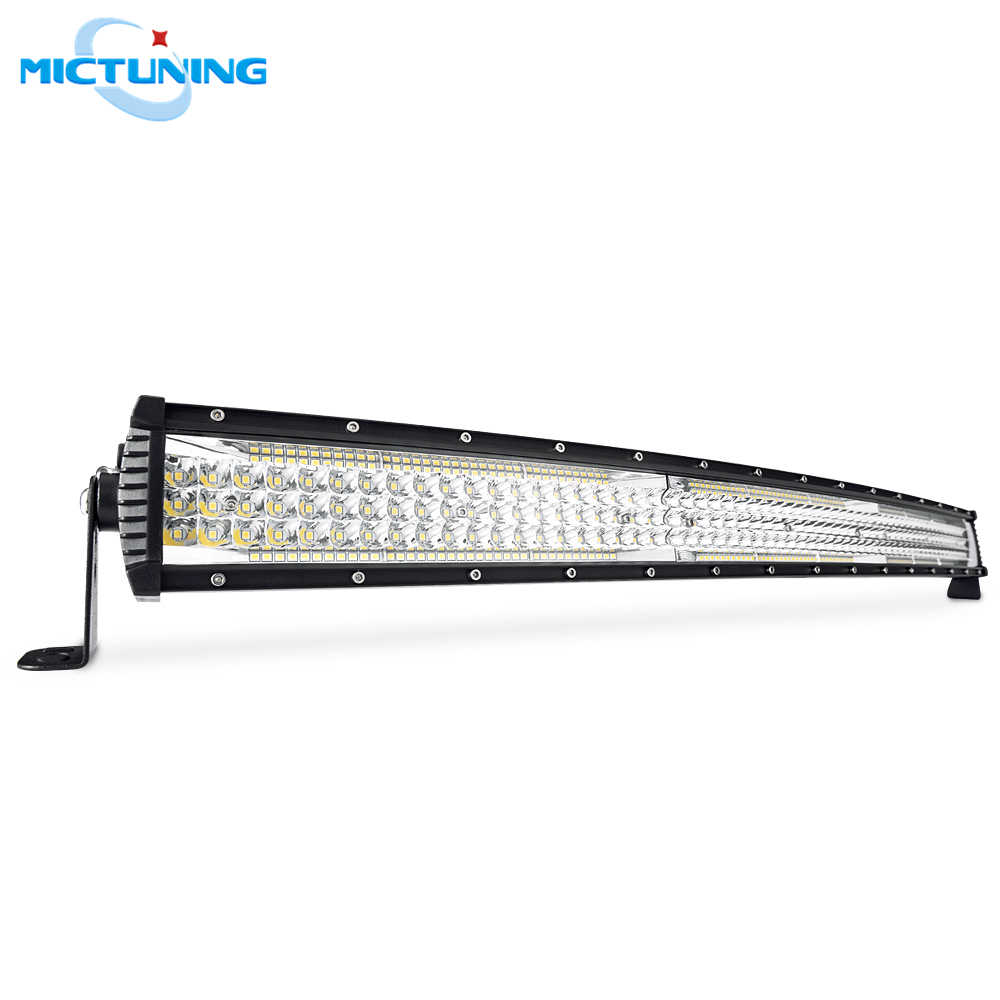 MICTUNING 32 Five row Curved LED Light Bar 20000LM Spot Flood Combo Car Led Driving Fog