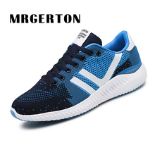 2017 Running Shoes For Men Mesh Breathable Cushioning Footwear Athletic Outdoor Running Sneakers LifeStyle Sports Shoes MR32510