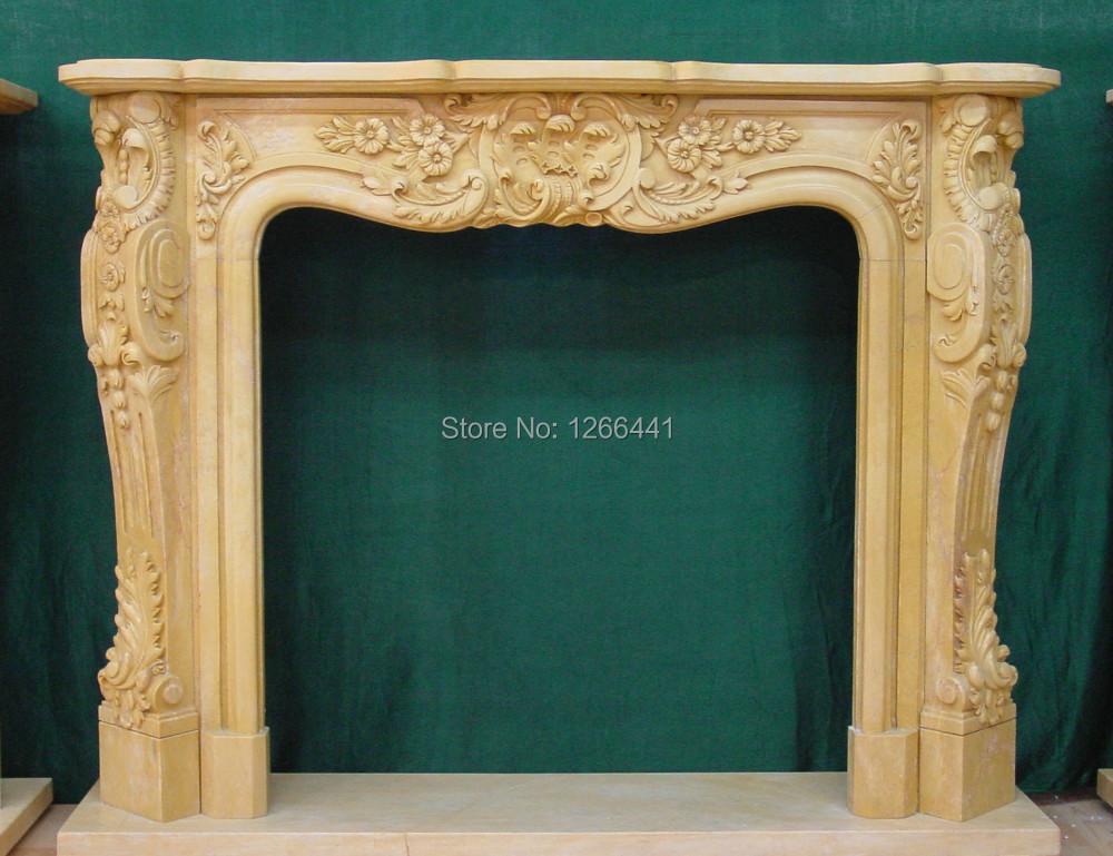 por encargo de estilo europeo marco de la chimenea de piedra chimenea de mrmol natural living