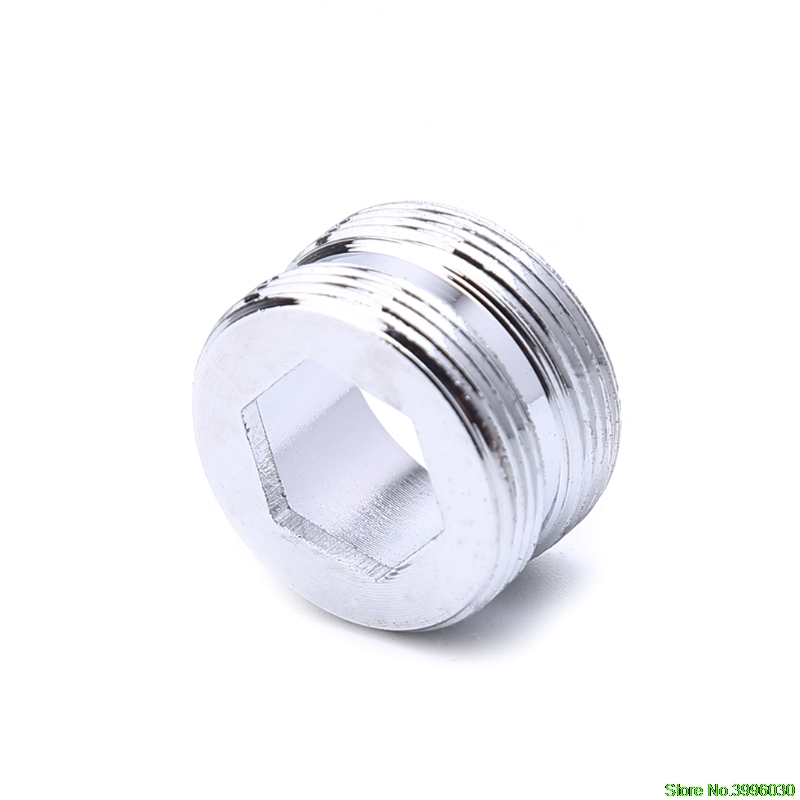 Solid Metal Adaptor Outside Thread Water Saving Kitchen Faucet Tap Aerator Connector 22mm