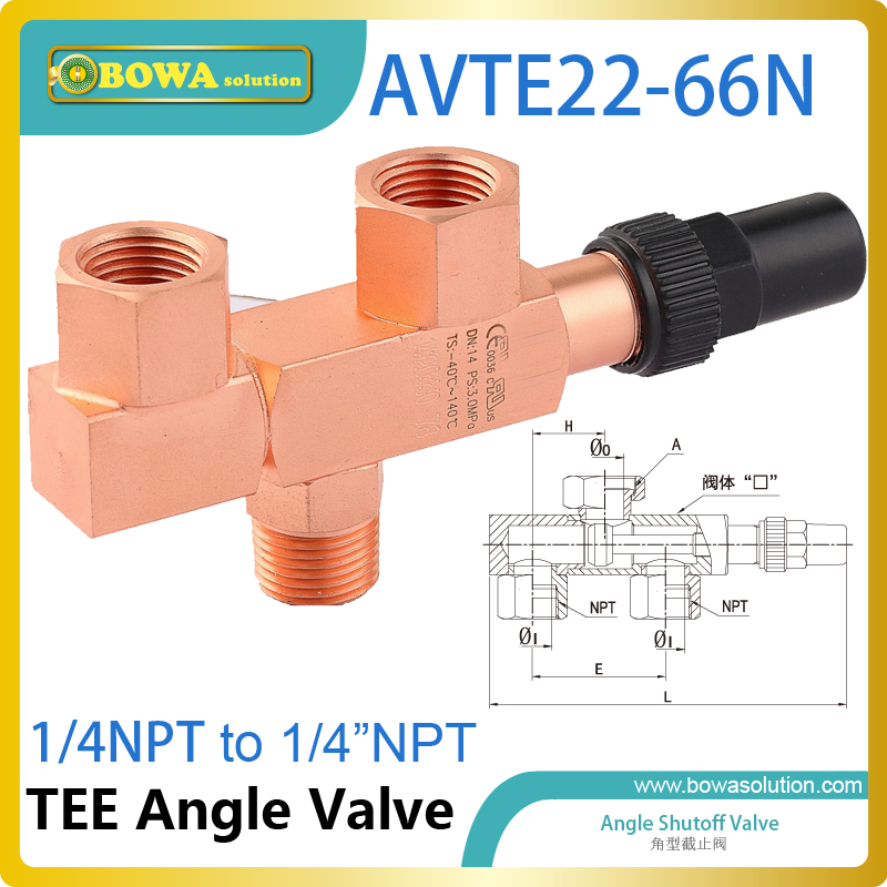 TEE angle valve permits replacement of one of the pressure relief devices, while the other is protecting the pressure vessel three way valve allows a pressure relief device to be replaced in situ without removing the system refrigerant charge