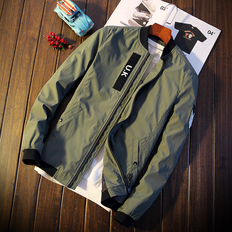 2018 Autumn Korean men s jacket new Casual jacket mens clothing Brand Zipper jacket male Slim