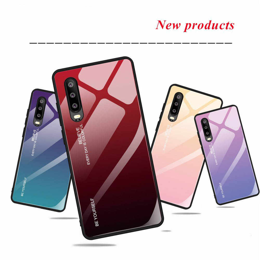 Sinbeda Tempered Glass Phone Case For HUAWEI P20 lite P20 Pro Case Shock-Absorbing Back Cover For HUAWEI  P20 Pro P20lite Cover