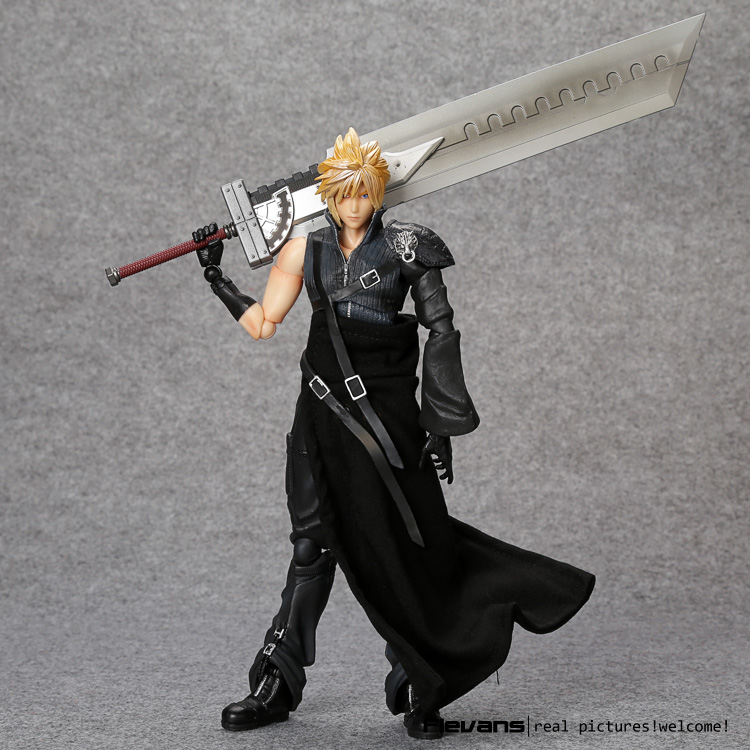 цены PlayArts KAI Final Fantasy VII Cloud Strife PVC Action Figure Collectible Model Toy 26cm FFFG006
