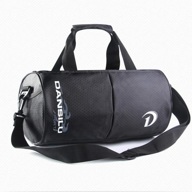 Outdoor Sport Bag Black Waterproof Training Gym Man Fitness Durable Multifunction Portable Shoulder