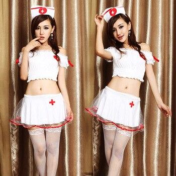 Sexy nurse Women French Cosplay Maid Uniform