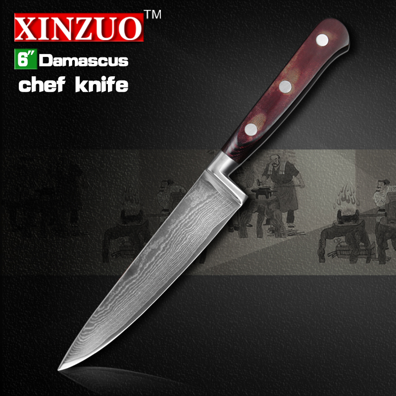 6 inch chef font b knife b font 73 layers Japan Damascus steel kitchen font b