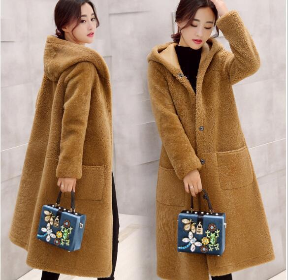 2016 Новые зимние Корейские свободные крупных женщин размер в долгосрочной шерстяные пальто женский овечьей шерсти пальто