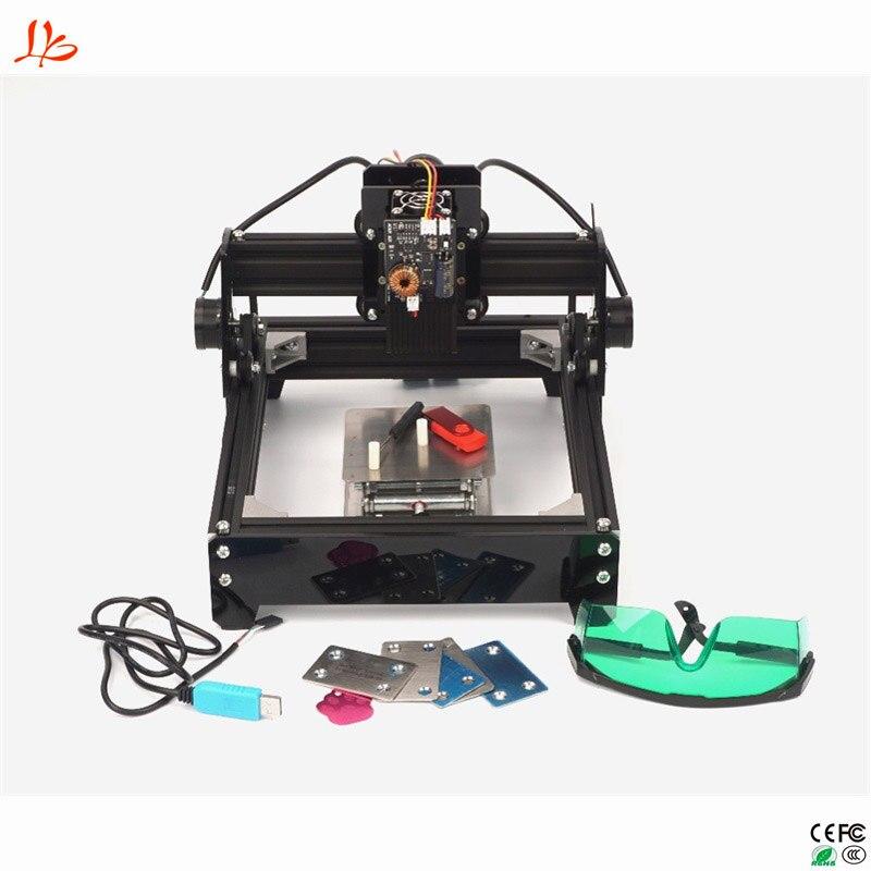 Assemblé 10 W 15 W Laser bricolage Laser Machine de gravure 2014 métal graveur CNC routeur
