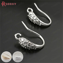 (28034)Height 15MM Antique Silver Copper Earring Hook 10PCS