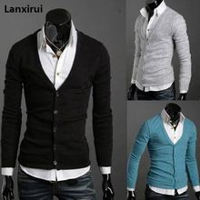 Pocket Zipper Wool Cashmere Sweater Male Outerwear Cardigan ,2018 Man Imported