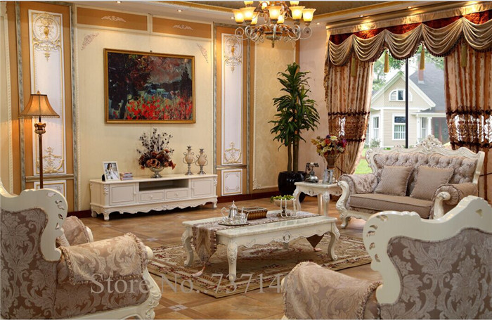 US $385.0 |white furniture antique TV cabinet living room furniture french  furniture furniture buying agent wholesale price-in Living Room Cabinets ...