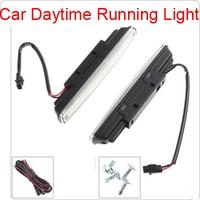 New 2pcs 18cm COB LED Super White Vehicle Car Daytime Running Light DRL Waterproof Warning Security