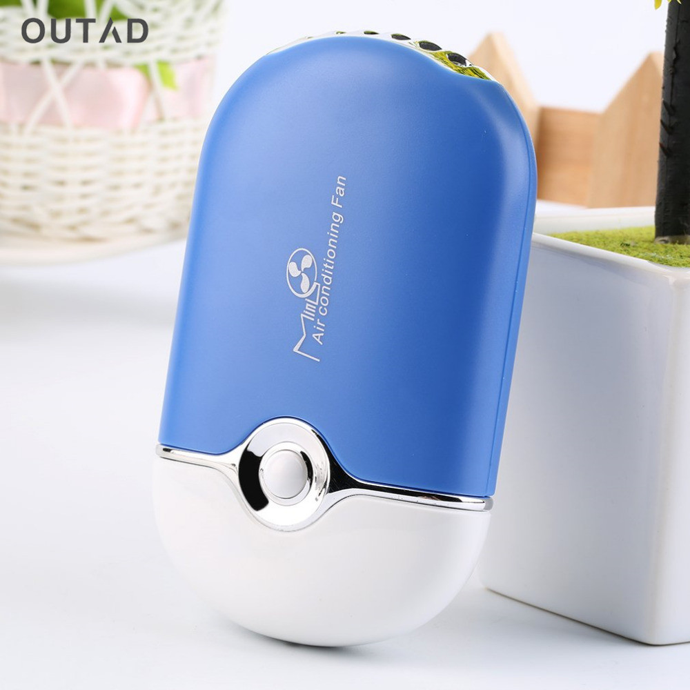 2018 New Mini portable hand fan cooling fan Table Air Conditioner Cooler Cooling USB Rechargeable Battery Bladeless Fan new mini cooling rechargeable fan