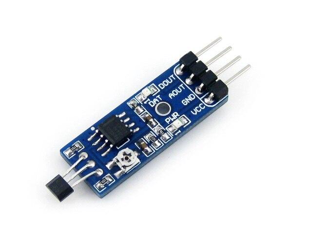 Waveshare Hall Element Switch Sensor Detector Linear Hall Sensor Detection Module Magnetic for Detect Car STM32 AVR kd621k30 prx 300a1000v 2 element darlington module