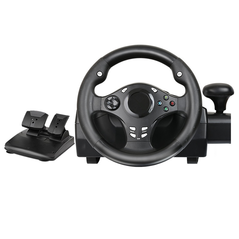 Computer game steering wheel /car driving simulator training aircraft /test  drive school/automobile race Vibration 270 degrees