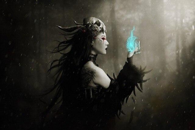 Gothic-ciemny-fantasy-art-czarownica-magia-pisowni-w-kale-czaszka-kobiety-tkanina-jedwab-sztuki-plakatu-na.jpg_640x640.jpg