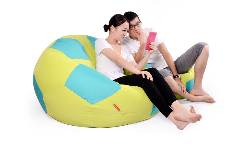 90cm diameter large bean bag chair, FOOTBALL beanbag sofa ...