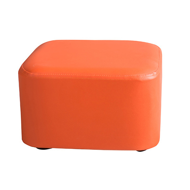 Taboret Small Stool Creative Leather Sofa Stool Tea Table Family Cloth  Change Shoes Stools Children Sitting
