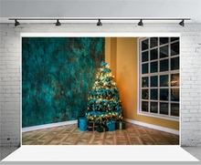 laeacco grunge wall christmas tree gifts indoor corner photography backgrounds vinyl custom camera backdrop for photo studio - Corner Christmas Tree