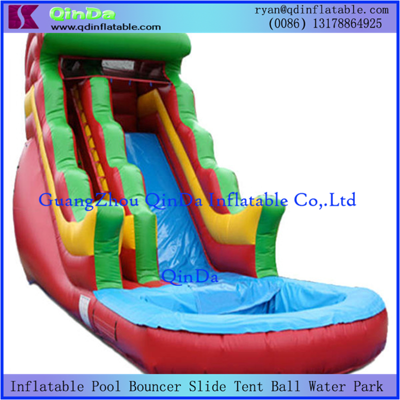 Fashionable Commercial Inflatable Water Slide With Swimming Pool Small Jump For Kids Sale In Slides From Sports