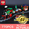 Lepin 36001 770Pcs The Creative Series Christmas Winter Holiday Train Set Children Building Blocks Bricks Christmas