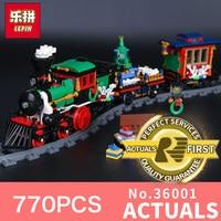 Lepin 36001 770ピースはクリエイティブシリーズクリスマス冬ホリデー列車セット子供ビルディングブロックレンガのクリスマスプレゼント10254