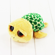 15cm Ty Beanie Boos Big Eyes Plush Toy Doll Green Tortoise TY Baby Kids Gift Collection