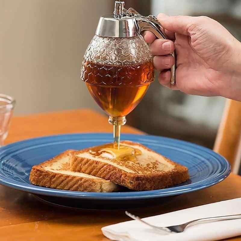 125 グラムハイブ蜂蜜ディスペンサー Diy シロップジュースペーストセパレーター油醤油酢キッチンポータブルやかん蜂ドリップスタンドボトル