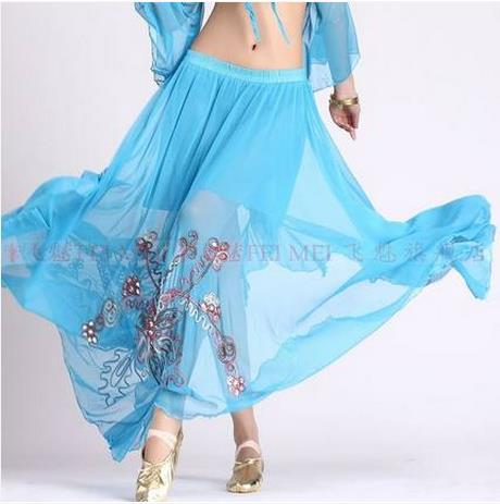 Hot Sale 2016 New Mesh Belly Dance Skirt For Women Belly Dance Stones Embroidery Skirts 9 Colors
