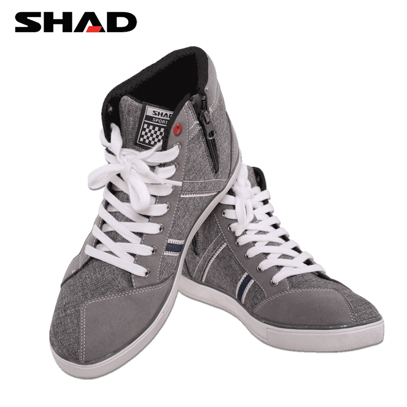 Image 2 - SHAD Fashion Casual Wear Motorbike Riding Shoes Motorcycle Boots Street Racing Boots Breathable Biker Boots-in Motocycle Boots from Automobiles & Motorcycles