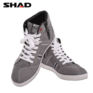 Image 2 - SHAD Fashion Casual Wear Motorbike Riding Shoes Motorcycle Boots Street Racing Boots Breathable Biker Boots
