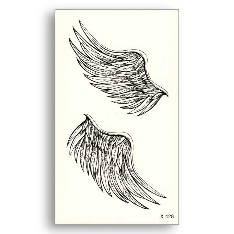Angel wings Water Transfer Fake tattoos Disposable Waterproof Temporary Stickers beauty Women Men Beauty Sexy Cool Body Art
