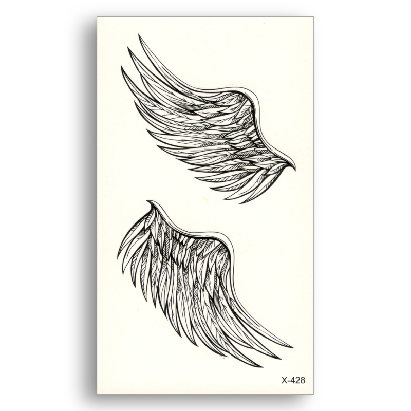 1 Piece Temporary Tattoo Sticker Water Transfer Wing: Angel Wings Water Transfer Fake Tattoos Disposable