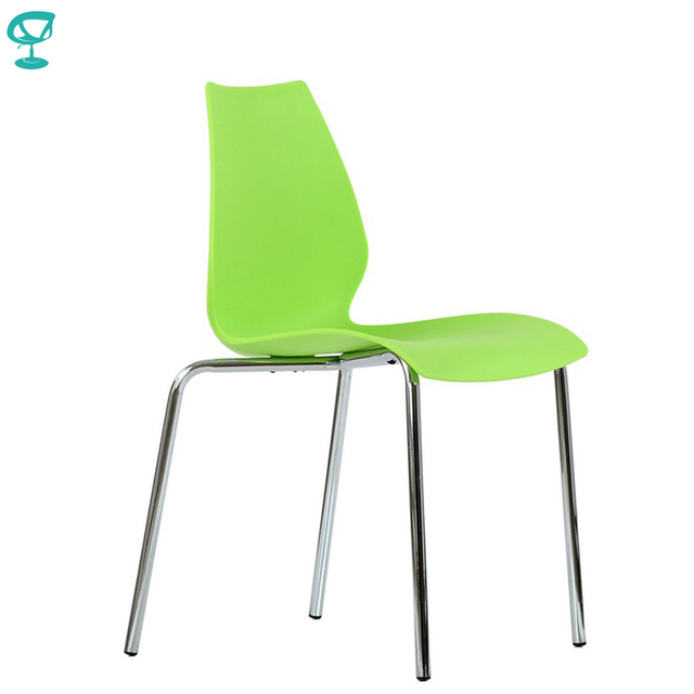95467 Barneo N-234 Plastic Kitchen Interior Stool Chair for a Street Cafe Chair Kitchen Furniture Green free shipping in Russia