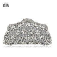 Xiyuan бренд Модные женские туфли Элегантные Банкетный Золото Серебряная корона Вечерние сумки Пром День Клатчи невесты кошельки
