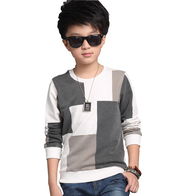 kids 2017 new children 's casual wear children' s sweaters in autumn boy shirt T - shirt children clothing baby boy clothes