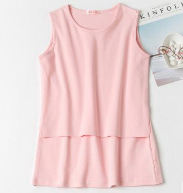 Elastic Cotton Nursing Tops 2018 Summer Breast Feeding Vest Clothes for Pregnant Women Maternity Breastfeeding Shirts WX322
