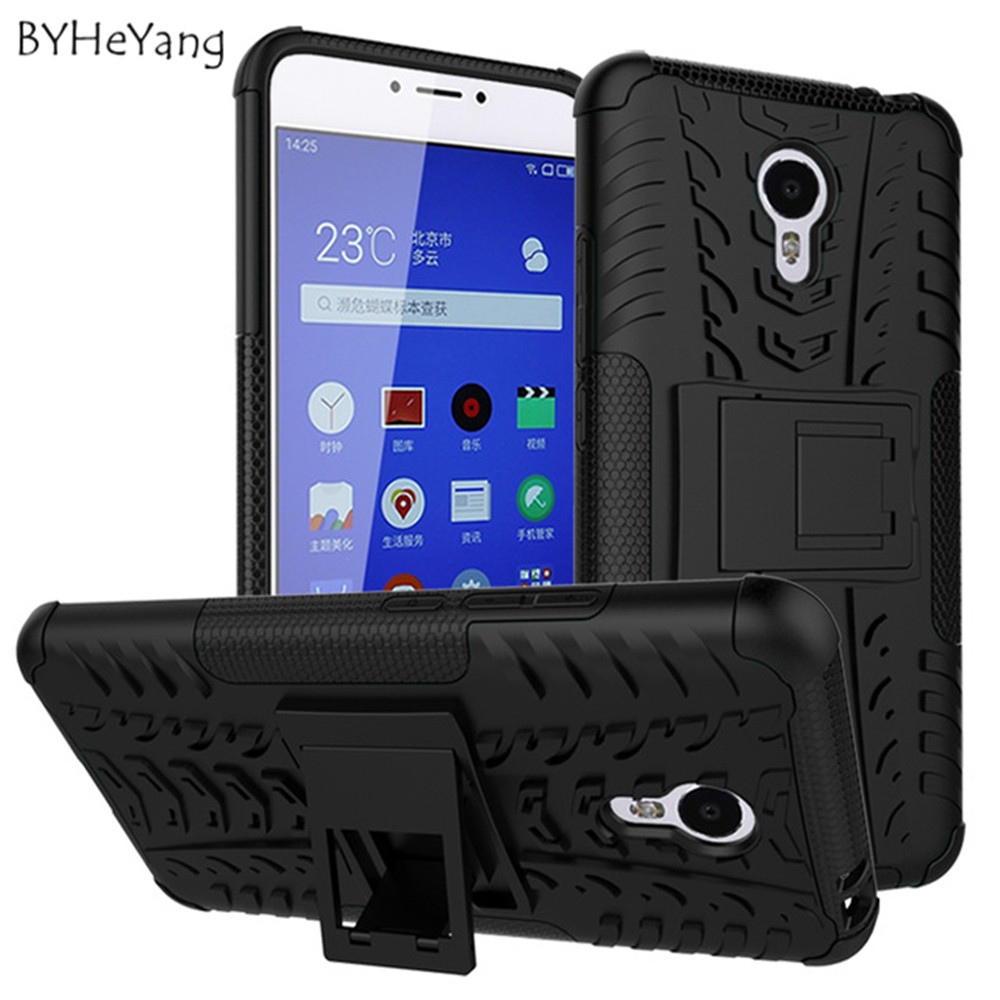 Hot Meizu M3 Note Case TPU+PC Armor Dual Back Case Cover With Holder Protector For meizu Meilan note 3 Cover Drop shipping