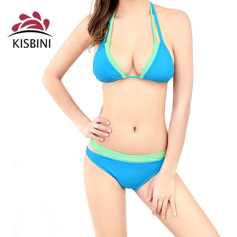 kisbini nuova marca swimwear europa 2017 triangolo diviso costume da bagno femminile bikini sexy molla calda costume da bagno