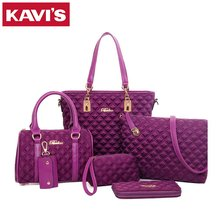 European and American Style Women Casual Messenger Bags 6 Pieces Set Composite Women Ladies Crossbody Shoulder