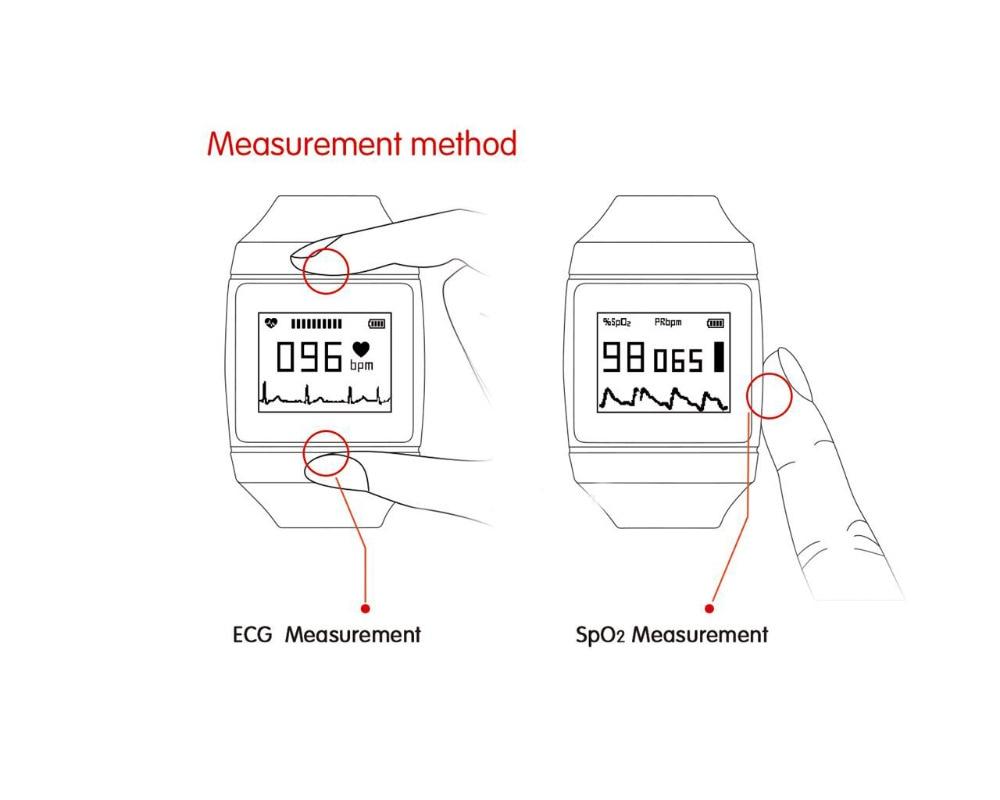 New design Wrist pulse oximter CMS50K Wearable SpO2/ECG Monitor Wireless Bluetooth Smart Calorie Monitor