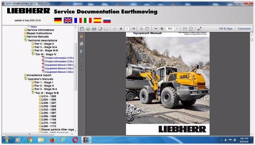Liebherr Lidos Online 2018 (LBH+LFR+LHB+LWT+COT) Parts Catalogs and repair manuals new idea 2017 spare parts books and service manuals