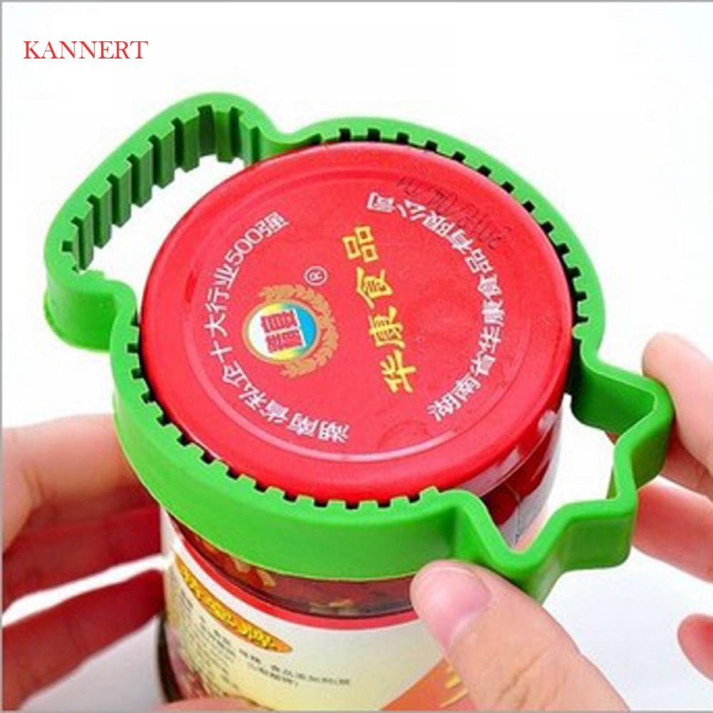 Hot 4 In 1 Lid Jar Bottle Opener Handy Screw Cap Jar Openers Multi Purpose Can Opener Bottle Grip Wrench Bottle Kitchen Gadget