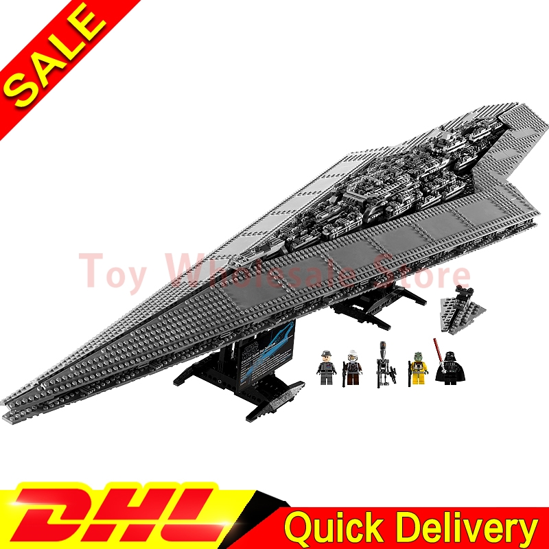 Lepin 05028 Building Blocks toy Star battle Execytor Imperial Destroyer Model Block Brick lepins toys Clone 10221 05028 star wars execytor super star destroyer model building kit mini block brick toy gift compatible 75055 tos lepin