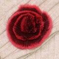 Природные Rex Меховой Помпон Мех Цветок Подлинный Реальный Меха Помпоном Цветок бал Обувь Шляпы Сумки Аксессуары Кролика Рекс Pom Poms