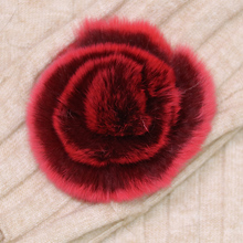 Natural Rex Fur Pompom Fur Flower Genuine Real Fur Pompon Flower Ball For Shoes Hats Bags Accessories Rex Rabbit Fur Pom Poms